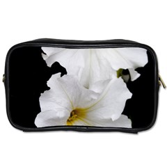 White Peonies   Twin Sided Personal Care Bag