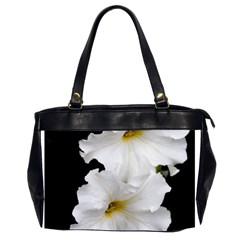 White Peonies   Twin-sided Oversized Handbag