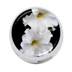 White Peonies   Twin-sided 4 Port USB Hub (Round)