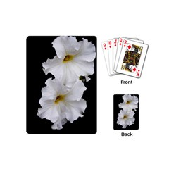White Peonies   Playing Cards (Mini)