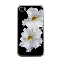 White Peonies   Apple Iphone 4 Case (clear)