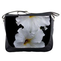 White Peonies   Messenger Bag