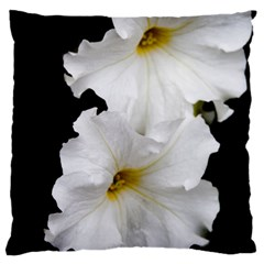 White Peonies   Large Cushion Case (One Side)