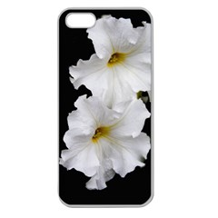 White Peonies   Apple Seamless iPhone 5 Case (Clear)