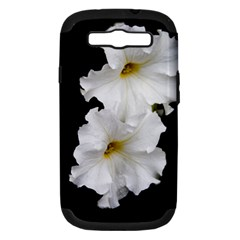 White Peonies   Samsung Galaxy S Iii Hardshell Case (pc+silicone)