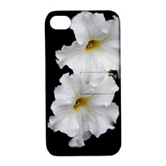 White Peonies   Apple iPhone 4/4S Hardshell Case with Stand