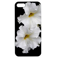 White Peonies   Apple iPhone 5 Hardshell Case with Stand