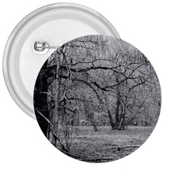Black and White Forest Large Button (Round)