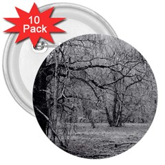 Black and White Forest 10 Pack Large Button (Round)