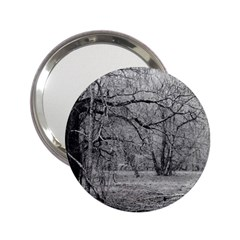 Black and White Forest Handbag Mirror