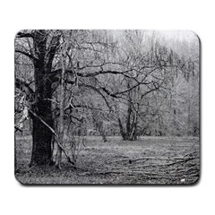 Black And White Forest Large Mouse Pad (rectangle)