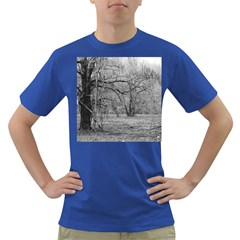 Black and White Forest Colored Mens'' T-shirt