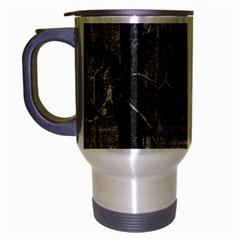 Black And White Forest Brushed Chrome Travel Mug