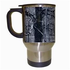 Black and White Forest White Travel Mug