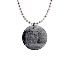 Black And White Forest Mini Button Necklace