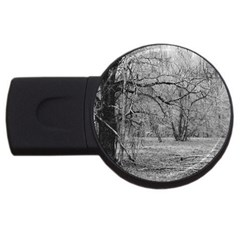 Black and White Forest 4Gb USB Flash Drive (Round)