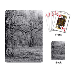Black and White Forest Standard Playing Cards