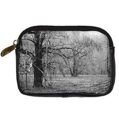 Black and White Forest Compact Camera Case