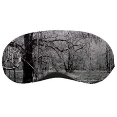 Black and White Forest Sleep Eye Mask