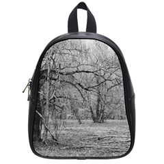 Black And White Forest Small School Backpack