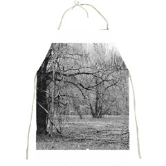 Black and White Forest Apron