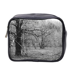 Black And White Forest Twin Sided Cosmetic Case