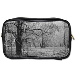 Black And White Forest Twin Sided Personal Care Bag