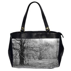 Black And White Forest Twin Sided Oversized Handbag
