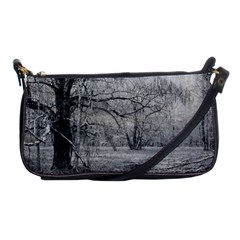 Black and White Forest Evening Bag