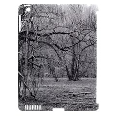 Black and White Forest Apple iPad 3/4 Hardshell Case (Compatible with Smart Cover)