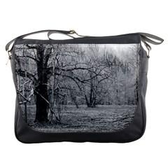 Black and White Forest Messenger Bag