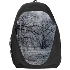 Black And White Forest Backpack Bag