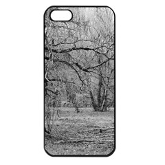 Black And White Forest Apple Iphone 5 Seamless Case (black)