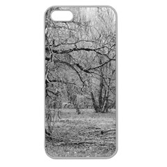 Black and White Forest Apple Seamless iPhone 5 Case (Clear)