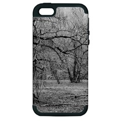 Black And White Forest Apple Iphone 5 Hardshell Case (pc+silicone)