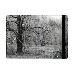 Black and White Forest Apple iPad Mini Flip Case