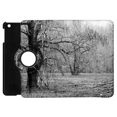 Black And White Forest Apple Ipad Mini Flip 360 Case