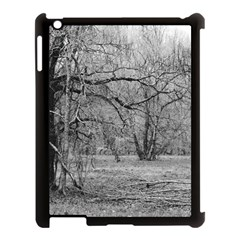 Black and White Forest Apple iPad 3/4 Case (Black)