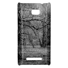 Black and White Forest HTC 8X Hardshell Case