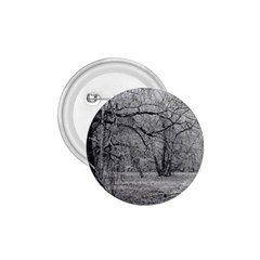 Black and White Forest Small Button (Round)