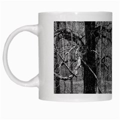 Black and White Forest White Coffee Mug