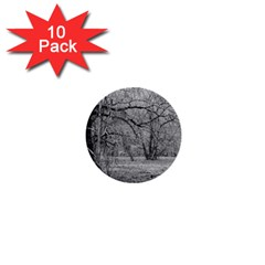 Black and White Forest 10 Pack Mini Button (Round)