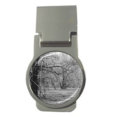 Black and White Forest Money Clip (Round)