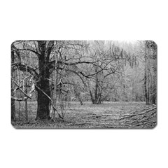 Black and White Forest Large Sticker Magnet (Rectangle)