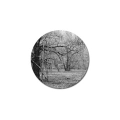 Black and White Forest 4 Pack Golf Ball Marker
