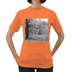 Black And White Forest Dark Colored Womens'' T Shirt