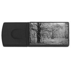Black And White Forest 4gb Usb Flash Drive (rectangle)