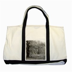 Black And White Forest Two Toned Tote Bag