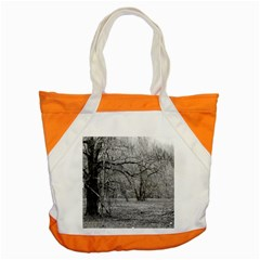 Black And White Forest Snap Tote Bag