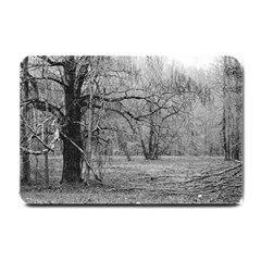 Black and White Forest Small Door Mat